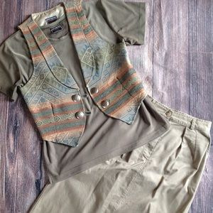 Dresses & Skirts - Studio West Western Vest Skirt Outfit
